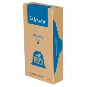 Caffesso Tolima Nespresso Kompatibla Kaffekapslar 100% Komposterbart